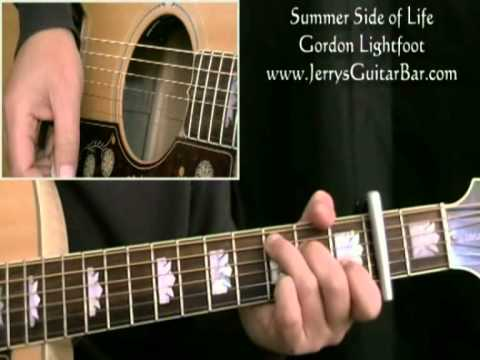 How To Play Gordon Lightfoot Summer Side of Life (intro only)