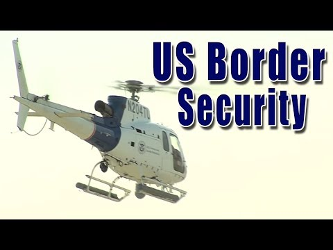US Customs and Border Protection Air and Marine A Star helicopter takeoff