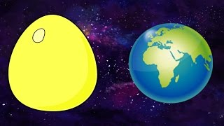 Animated Surprise Eggs English Lesson for Toddlers - The Solar System and Planets - Education