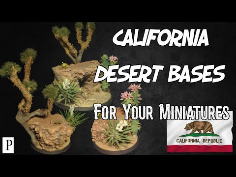 How To Make California Desert Bases For Your Miniatures