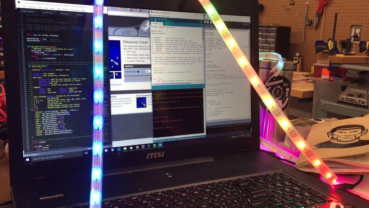 How To Make Attiny Driving Addressable Rgb Led Strips Youtube Pdf Matrix Cube Controller 5x5x5