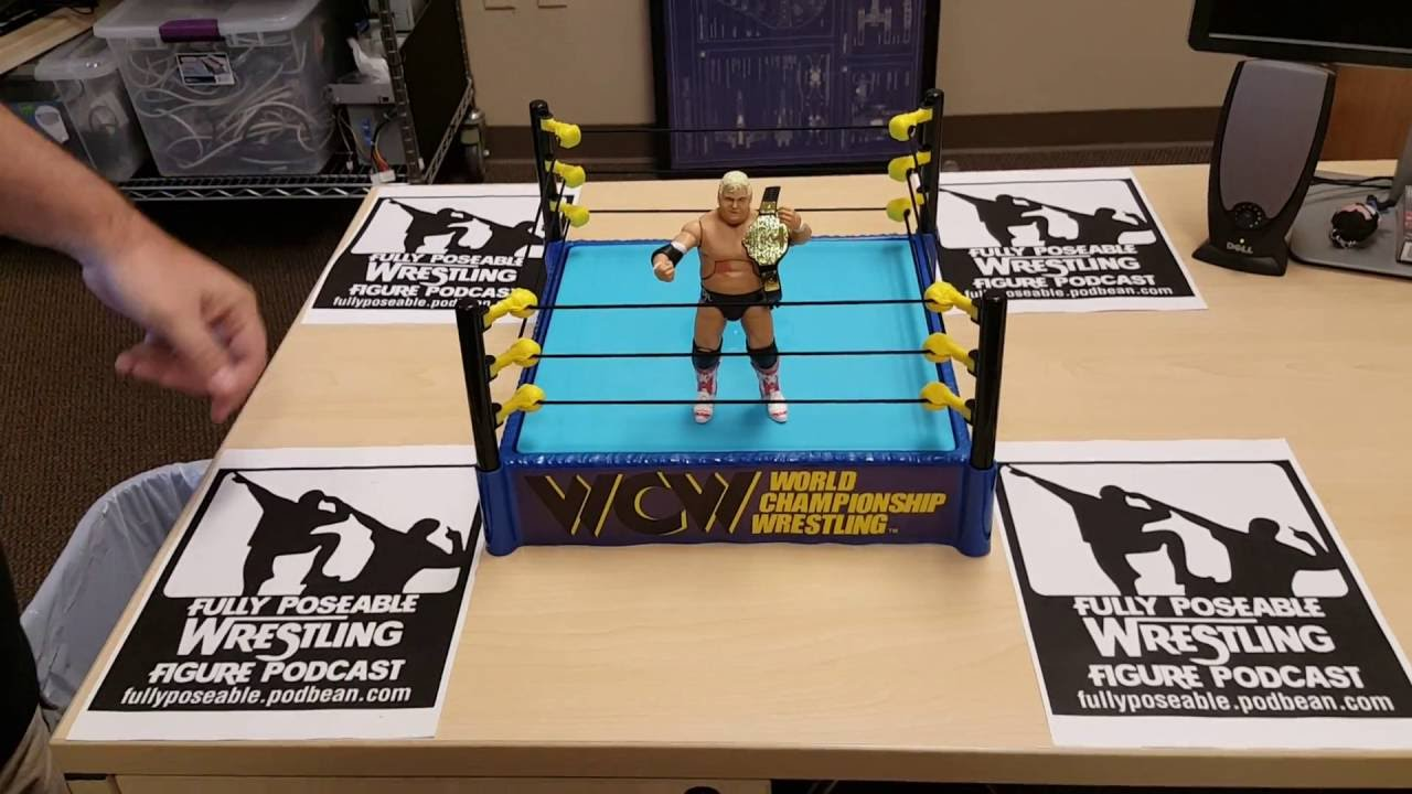WWE Wrestling Hall of Fame Retro WCW Ring Exclusive Playset Dusty Rhodes Figure