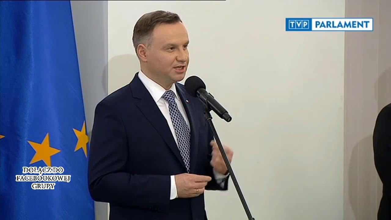 Przemówienie Prezydenta Andrzeja Dudy po zaprzysiężeniu rządu Mateusza Morawieckiego