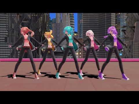 Аниме танец 3d