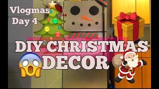 DIY Christmas Decorations| Easy diy |  Vlogmas Day 4