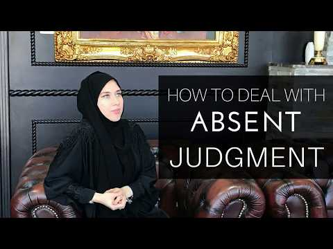 How to deal with the absent judgment in the UAE