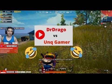 Unq Gaming vs DrDrago | 😂funny kill😂 | Watch till the end.