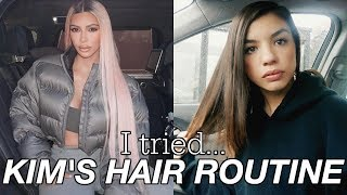 TRYING KIM KARDASHIAN'S HAIR CARE ROUTINE FOR A WEEK