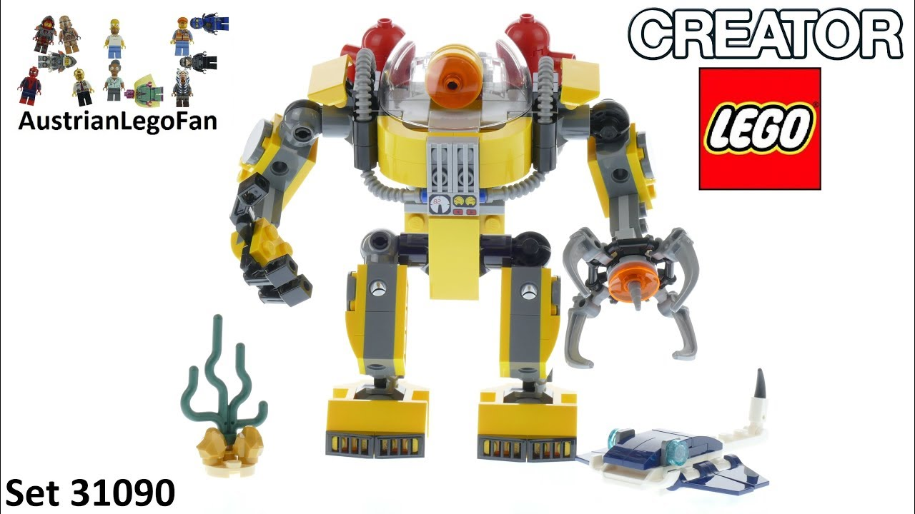 Lego Creator 31090 Underwater Robot Lego 31090 Speed Build Youtube