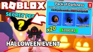 I BOUGHT *20* NEW HALLOWEEN DARKNESS PACKS & GOT THIS?! (Roblox Mining Simulator Update)
