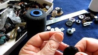 Обтяжка в ручную пуговицы кожей замшей, тканью(, 2013-07-30T23:25:24.000Z)