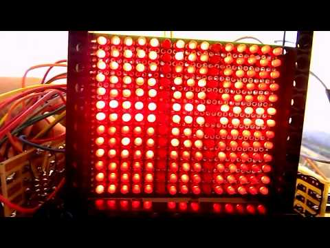 matrix consisting of 195 LEDs led driver by an ardruino 2560 video 2 demo