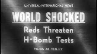 World Shocked. Reds Threaten H-Bomb Tests 1961 Newsreel