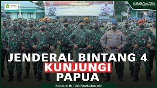 Komandan Pasukan Khusus TNI dan Pangkostrad Kawal Kunjungan 2 Jenderal Bintang Empat di Papua