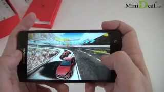 Reviews / Hands on Android 4.4.2 Kitkat Lenovo S850 Glass Shell HD Gorilla Glass Lady's smartphone