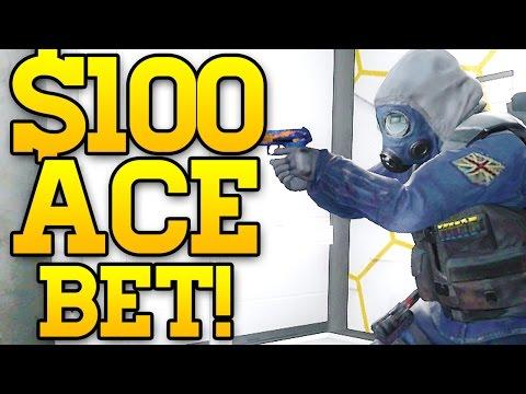 $100 DOLLAR ACE BET! CS GO COMPETITIVE