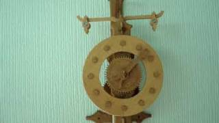 Wooden Clock With Verge & Foliot, Design By Brian Law