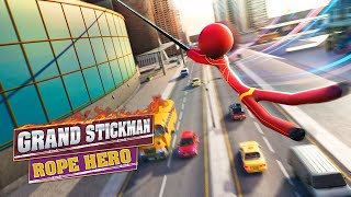 Popular Flying Hero Stickman Rope Hero Grand Crime City Related to Games
