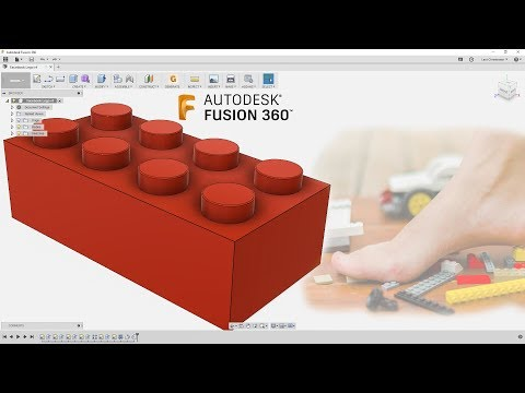 Fusion 360 Absolute Beginner - How To Model a Lego - Last Nights Facebook Livestream