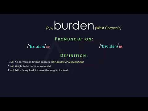 Burden Meaning And Pronunciation | Audio Dictionary