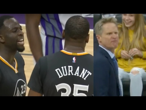 Kevin Durant and Draymond Green Get Into ANOTHER FIGHT, Coach Kerr EJECTED vs Kings