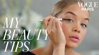 Model Jasmine Sanders' cat-eye tutorial   My Beauty Tips