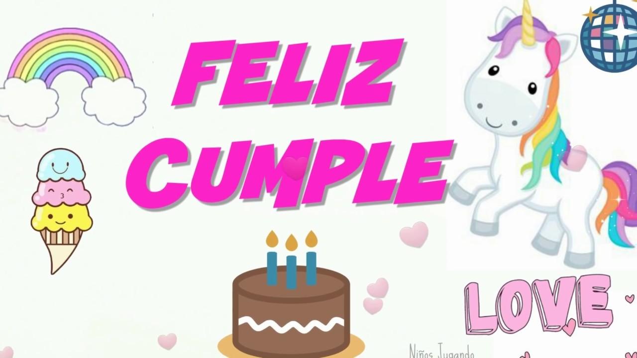 Felicitaciones Tarjetas para dedicar originales Niñas feliz cumpleaños YouTube