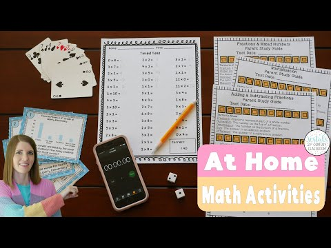 At Home Math Activities