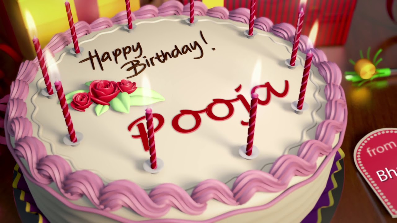 Happy bday dear pooja cake images