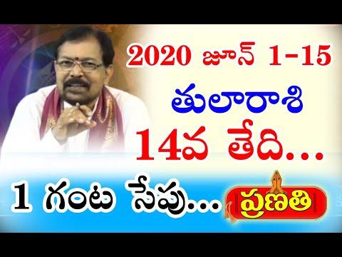 2020 జూన్ 1-15 తులారాశి   Rasi Phalalu 2020 TulaRasi   Libra Horoscope