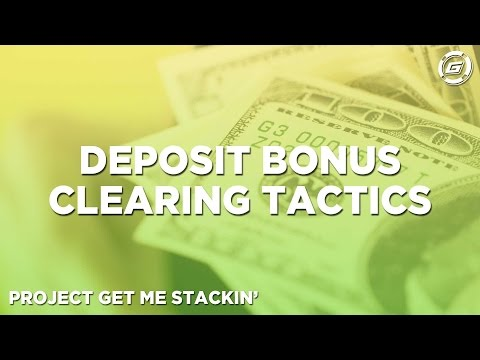 Poker Deposit Bonus Clearing Tactics