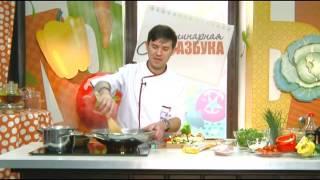 """Телепроект """"Кулинарная азбука"""". Повар Динар МИНГАЗОВ. АЗИАТСКАЯ КУХНЯ: Лапша с уткой и овощами."""