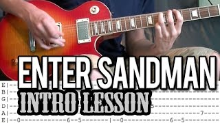 Metallica - Enter Sandman Intro Guitar Lesson (With Tab)