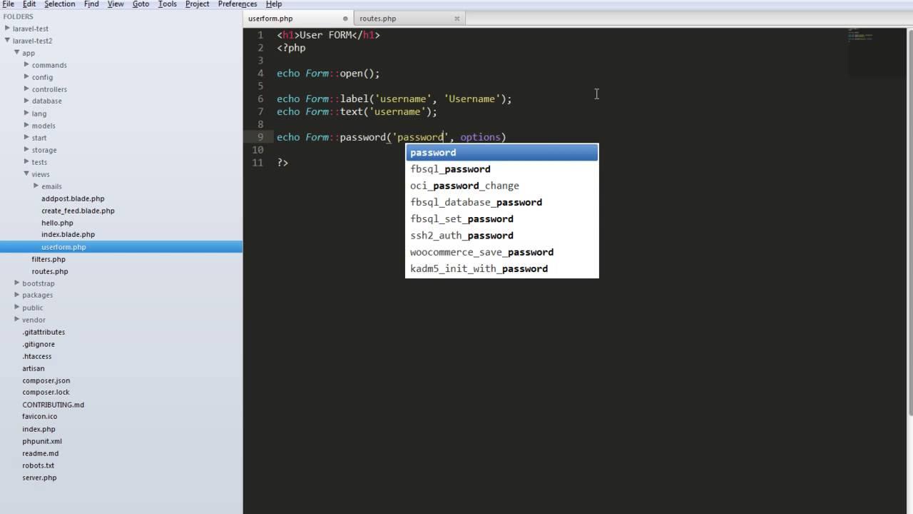 การใช้ Form ใน Laravel : 1. การสร้าง Form อย่างง่าย - YouTube