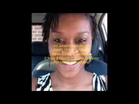 Sandra Bland Traffic Stop; Death; Arresting And Connecting The Dot's