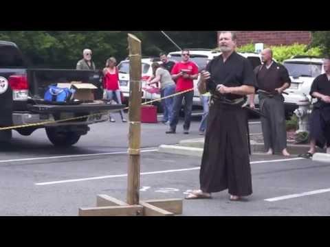 Atlanta Blade show 2014 James Williams Sensei Tameshigiri demonstration