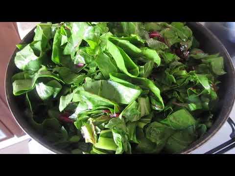 Турецкий рецепт  со свекольными листьями.