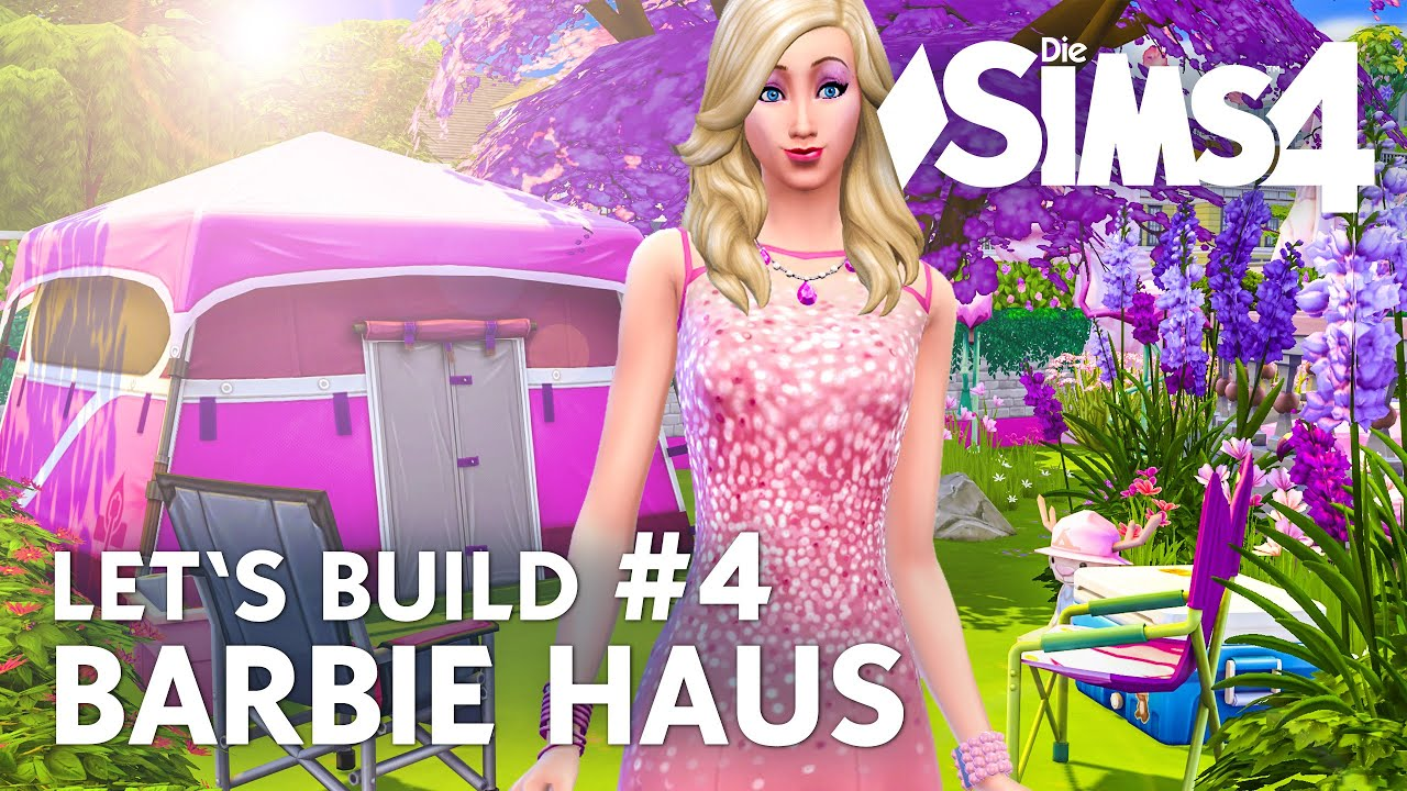 die sims 4 let 39 s build barbie haus 4 kinderzimmer pool deutsch youtube. Black Bedroom Furniture Sets. Home Design Ideas