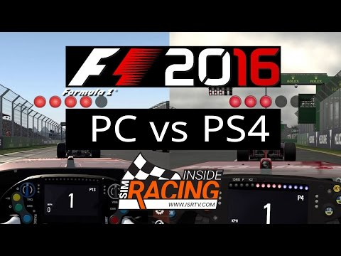 F1 2016 PC vs PS4 - Round 1 from Australia in Career Mode Test Drive