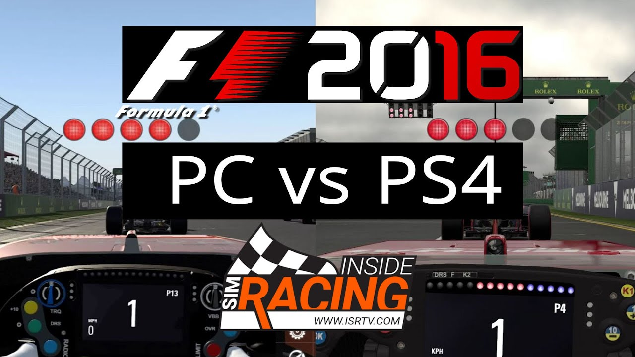 f1 2016 pc vs ps4 round 1 from australia in career mode. Black Bedroom Furniture Sets. Home Design Ideas