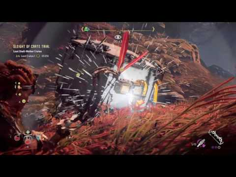 Horizon Zero Dawn - Shell Walker Trial - After update 1.12 - Collect 4 crates