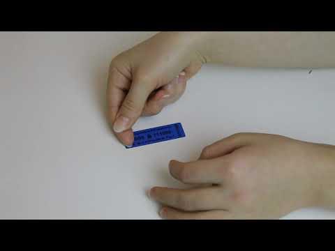 Пломба наклейка 60 х 20 мм Синяя
