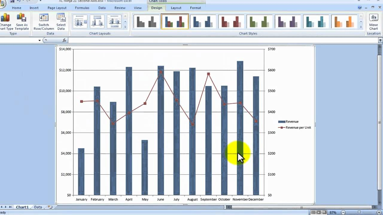 Excel charts secondary axis how to improve your chart also youtube rh