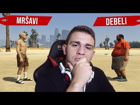 GTA 5 TEST: Mršavi vs Debeli