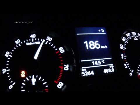 ?koda Rapid 1,2 TSI 2012 - acceleration 0-210 km/h