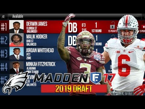 2019 Defensive Draft Prospects ft. Derwin James + Sam Hubbard - Madden 17 Eagles CFM