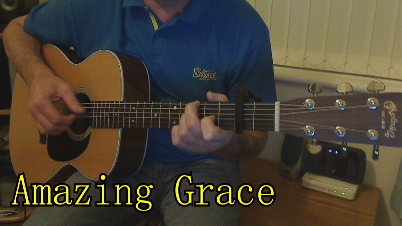 amazing grace acoustic guitar cover youtube. Black Bedroom Furniture Sets. Home Design Ideas