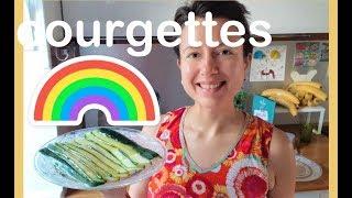 Zucchini raw #vegan marinade step by step recipe