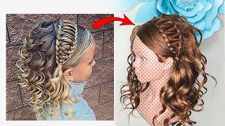 Прически для Девочек в школу/садик на 1 сентября. Повторяю прическу из локонов. Simple Peinados