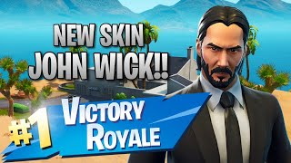 New John Wick Skin!! 10 Elims!! - Fortnite: Battle Royale Gameplay
